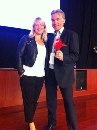 Med Lisa Ekström på Best Western chefskonferens 2012