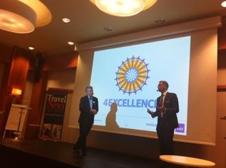 Med SAS koncernchef Rickard Gustafson på Travel News Studio 2011