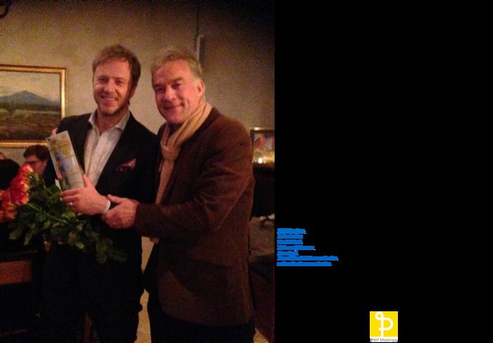 Årets Talare 2015, Olof Röhlander överraskas vid en ceremoni på restaurang Knut, 28 november