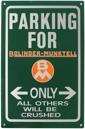 Skylt parking for BM only