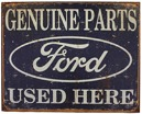 Skylt Genuine Ford Parts, used here