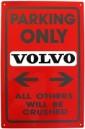 Skylt Volvo + BM Nyckelring emaljerad