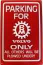BM Skylt röd + Nyckelring BM