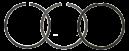 Kolvringsats std JD 1020-3130. REF: AR55759