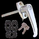 Dörrhandtag yttre med lås
