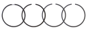 Kolvringsats Ford 6810-9700, TW div. modeller. REF: VPB4560