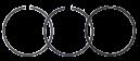 Kolvringsats JD 1040-6910. REF: VPB4912