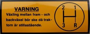 Varningsdekal