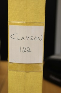 BEG. Reservdelsbok Clayson 122
