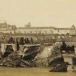 Karlův most po povodni 1890