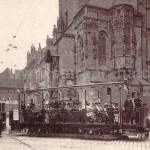 vyhlídkový vůz u Orloje 1913