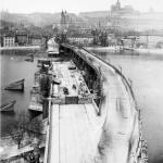 oprava Karlova mostu v r. 1891
