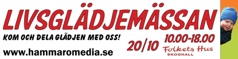 Hammarö Media arrangerar Livsglädjemässan. Hyr in oss till ditt arrangemang. Livsglädjemässan är varumärkesskyddat - önskar din kommun arrangera Livsglädjemässan, kontakta oss.