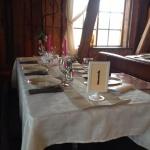 Bröllopsdukning på Tängsta Gård