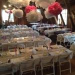 Bröllopsdukning vid Tängsta Gård