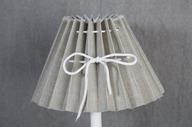 Lampskärm 10x23x15cm Veckad Beige/grå