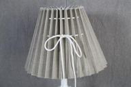 Lampskärm 12x25x18cm Veckad Beige/grå
