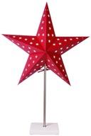 Stjärna på fot röd 65cm