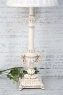 Creme Färgad Lampfot H46 cm
