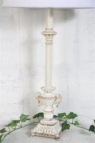 Creme Färgad Lampfot H53 cm
