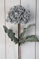 Grå Hortensia på kvist Konstväxt