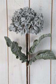 Grå Hortensia på kvist Konstväxt - Grå Hortensia