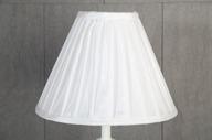 Vit Veckad Lampskärm 11x21x28cm