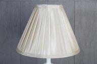 Veckad Lampskärm 11x21x28cm Creme