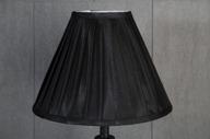 Svart Veckad Lampskärm 11x21x28cm