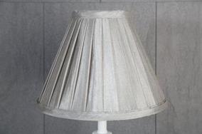Grå Veckad Lampskärm 11x21x28cm - Grå