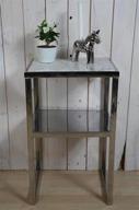 Silver bord med marmorskiva