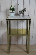 Guld bord med marmor skiva