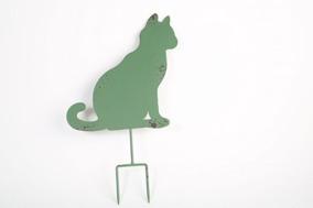 Grön Gårdsskylt Katt - Grön katt