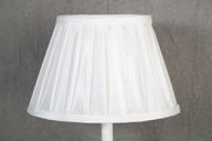 Lampskärm oval 16x25x17cm Vit