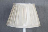 Lampskärm oval 16x25x17cm Creme