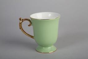 Grön/guld Mugg