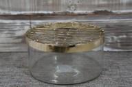 Vas med gallerlock H 7cm D 20cm