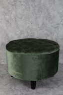 Grön sittpuff med förvaring