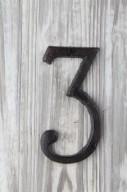 Siffra i gjutjärn H14cm