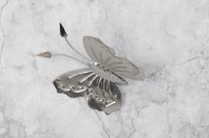 Fjäril i plåt 12x11cm
