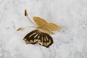Fjäril i plåt 12x11cm - Guldfjäril