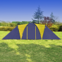 Campingtält för 9 personer blå/gult