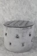 Grå puff 50x40cm