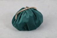 Blå/grön sammetsväska 17x10x6cm