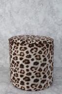 Leopardmönstrad sittpuff