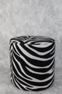 Zebramönstrad sittpuff