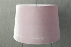 Rosa taklampskärm i sammet - Rosa