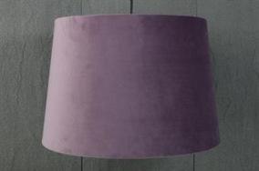 Lila taklampskärm i sammet - Lila