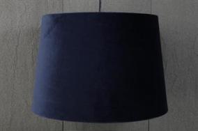 Mörkblå taklampskärm i sammet - Mörkblå