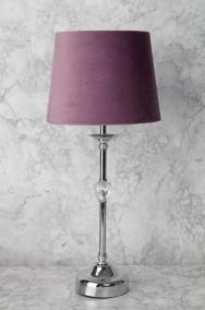 Lampfot+skärm H46cm - Silver/lila